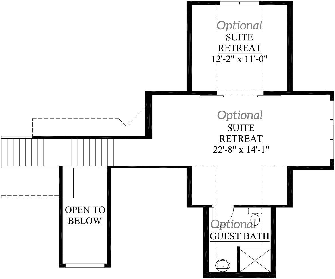 Second floor plan of the Dakota model home