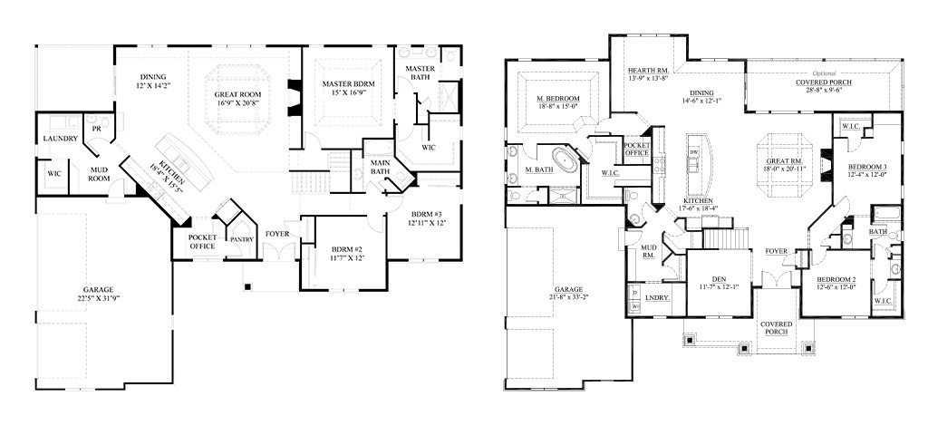 Small Lots | Design, Placement, Subdivision Amenities ... on ranch house floor plans with furniture, ranch house floor plans with wrap around porch, ranch house floor plans with carport,