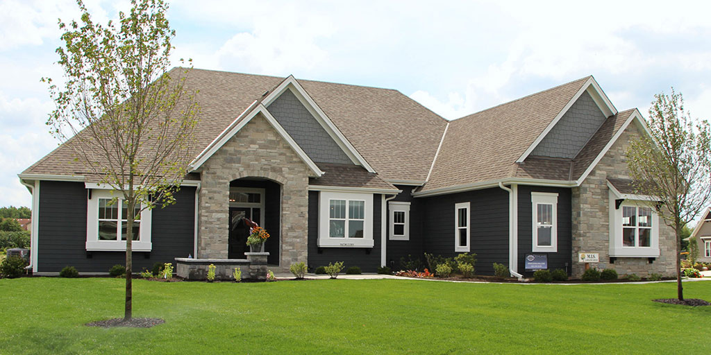 Outside view of the Finley model home